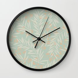 Leaves In Colors 3 Wall Clock