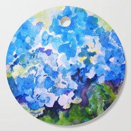 Blue Hydrangeas Cutting Board