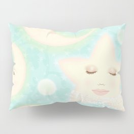 Lady Moons and Stars Pattern Pillow Sham