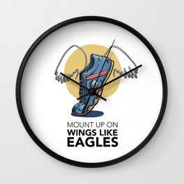 #6 Mount up on Wings like Eagles Wall Clock
