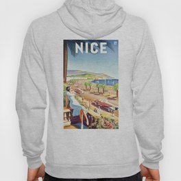 1935 Nice France Travel Poster Hoody