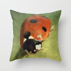 Look Down Lady Throw Pillow