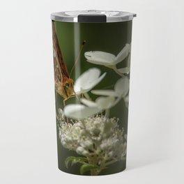 Butterfly on a Hydrangea Travel Mug
