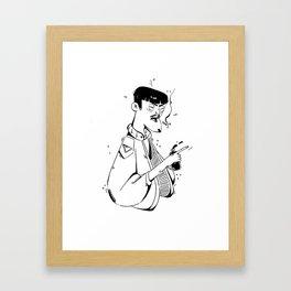 Japanes man Framed Art Print