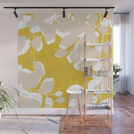 leave mustard yellow Wall Mural