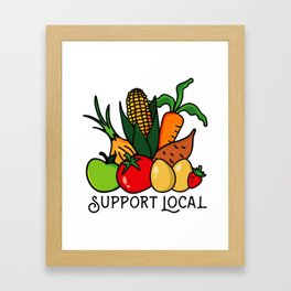 Support Local Framed Art Print