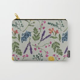 Botanical Pattern Green Carry-All Pouch