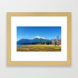 Lake Cushman, WA Framed Art Print
