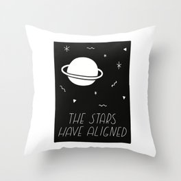 The Stars Have Aligned Throw Pillow