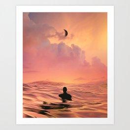 The Lost Swimmer Art Print