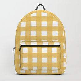 Farmhouse Gingham in Harvest Yellow Backpack