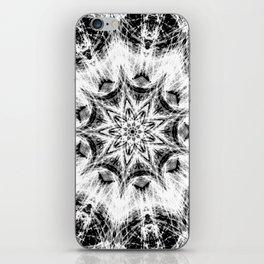 Atomic Black Center Swirl Mandala iPhone Skin