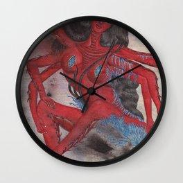 Scorpio: The Feared Revenger (Oct 23 - Nov 21) / Original Gouache On Paper Painting / Illustration Wall Clock