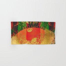 Passion - Abstract Eye Coral Metallic Hand & Bath Towel