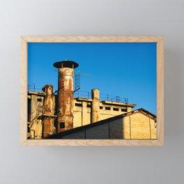 Rusty fireplace Framed Mini Art Print