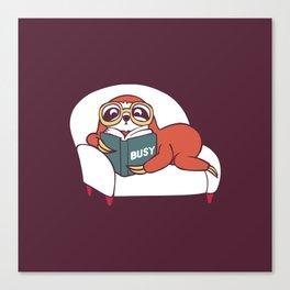 Busy  Sloth Canvas Print