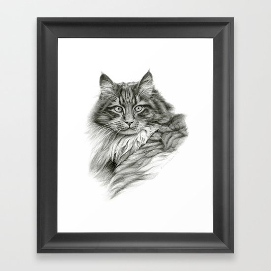 Ginger Cat G2012-052 Framed Art Print