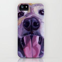 A Dog's Joy Golden Retriever Portrait iPhone Case