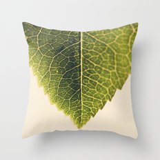green leaf abstract Throw Pillow