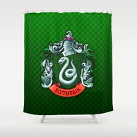 slytherin Shower Curtains featuring SLYTHERIN  by Smart Friend
