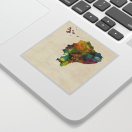 Ecuador Watercolor Map Sticker