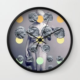 Statue With A Dot Gradient 1 Wall Clock