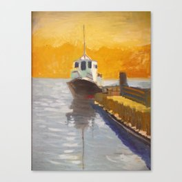 Tug boat on the VVaccamavv river Canvas Print