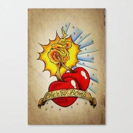 Cherry Bomb - Tattoo Art Canvas Print