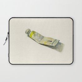 Cadmium Lemon Yellow Watercolor Tube Laptop Sleeve