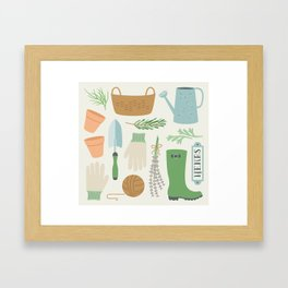 Herb Garden Framed Art Print