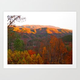 Autumn in Tennessee Art Print