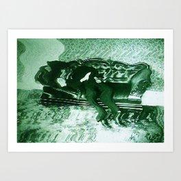 Green Blur Art Print