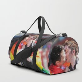 Destiel Pride Stained Glass Duffle Bag