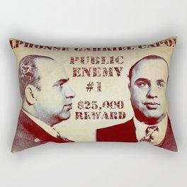 Al Capone FBI Wanted Poster Rectangular Pillow