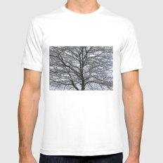 Snowy tree Mens Fitted Tee MEDIUM White