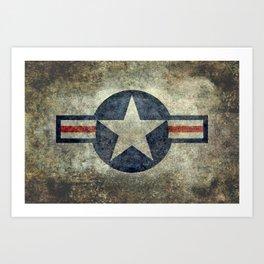 Vintage USAF Roundel #2 Art Print