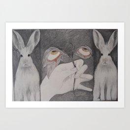 Lave: Saint Luce and rabbits Art Print