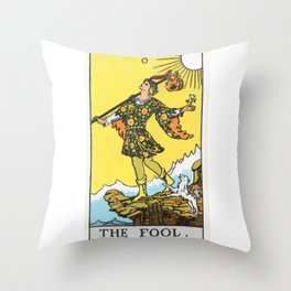 00 - The Fool Throw Pillow
