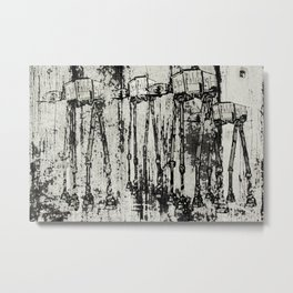Star Wars At-At Herd by Andy Walsh Metal Print