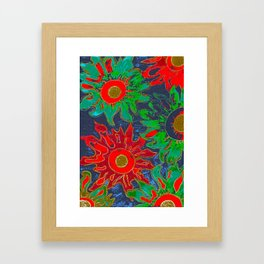 Red and green. Framed Art Print