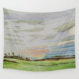 Landscape clouds Wall Tapestry