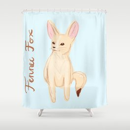 Fennec Fox Sketch Shower Curtain