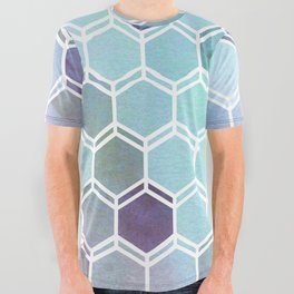 TWEEZY PATTERN OCEAN COLORS byMS All Over Graphic Tee