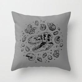 Geo-rex Vortex | Black Throw Pillow