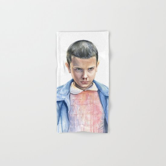 Eleven Stranger Things Watercolor Portrait Hand & Bath Towel