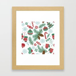 Christmas Pattern 06 Framed Art Print