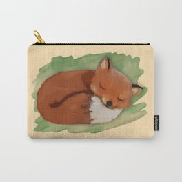 Sleepy Watercolor Fox Carry-All Pouch