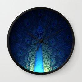 Mystic Peacock Wall Clock