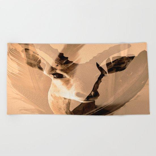 Beautiful and fast - Impala portrait Beach Towel