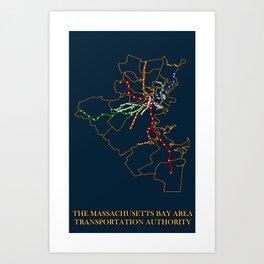 The MBTA Network Art Print